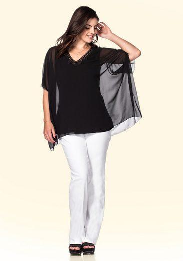 Tunika Verzierter Sheego Pailletten Mit Ausschnitt Style Y655Cq