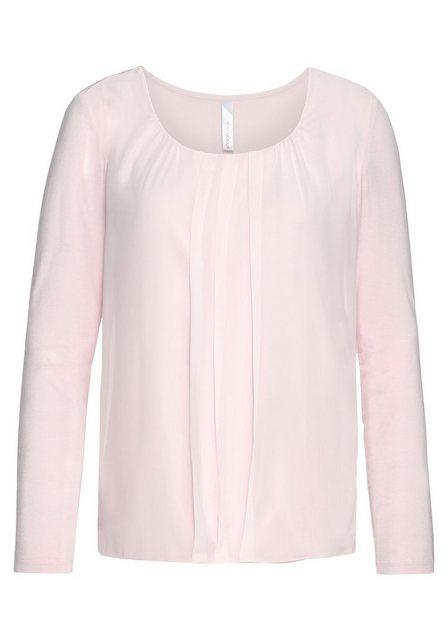 Sheego Langarmshirt mit Chiffon   Bekleidung > Shirts > Langarmshirts   Sheego