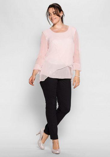 sheego Style Tunika, Im Lagen-Look