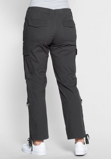 Sheego Casual Cargo Pants, With Krempel Function