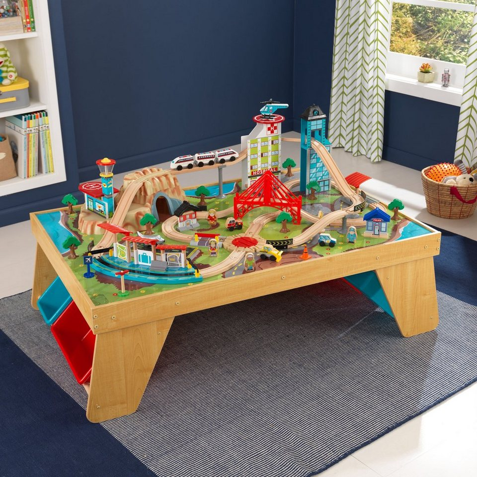 kidkraft spieltisch eisenbahn aus holz aerocity online. Black Bedroom Furniture Sets. Home Design Ideas