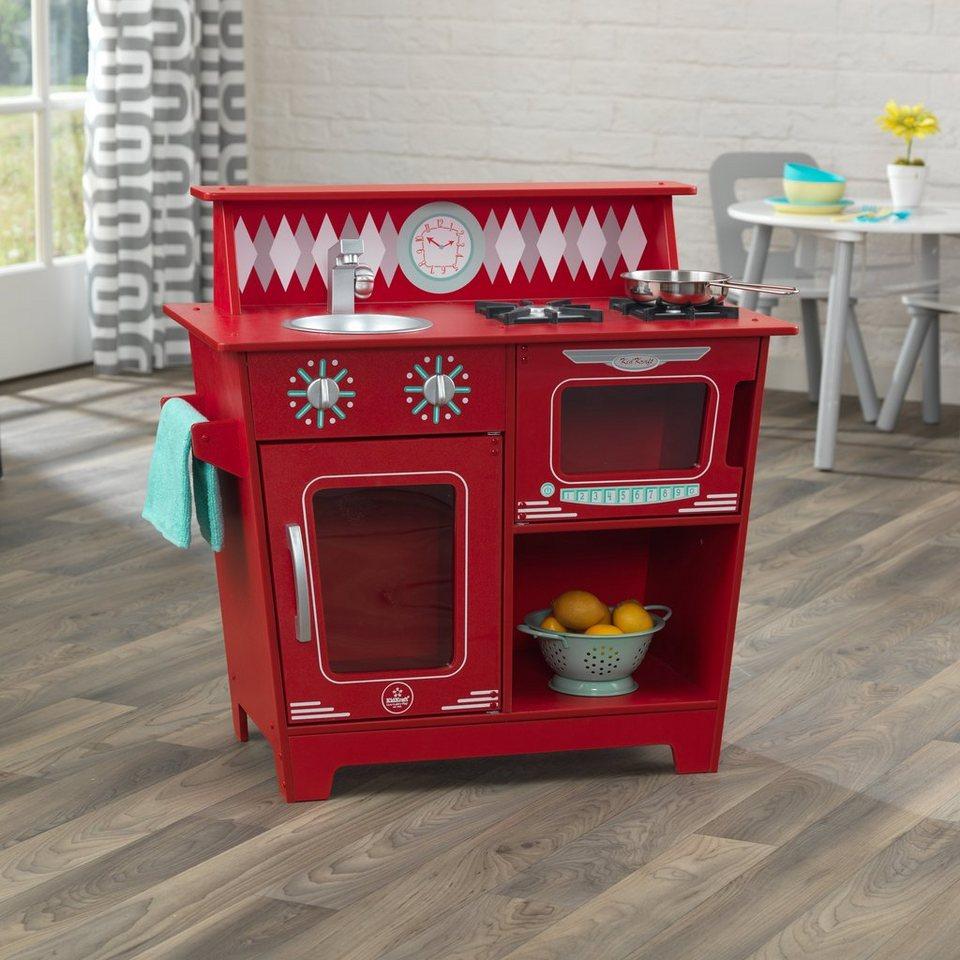 Kidkraft Spielküche aus Holz Klassische Küche in Rot
