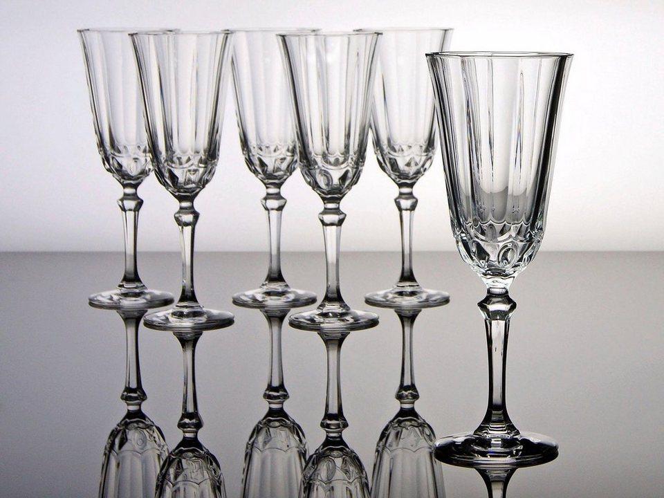 Sektgläser, »Allure«, CreaTable (6er Set) in transparent