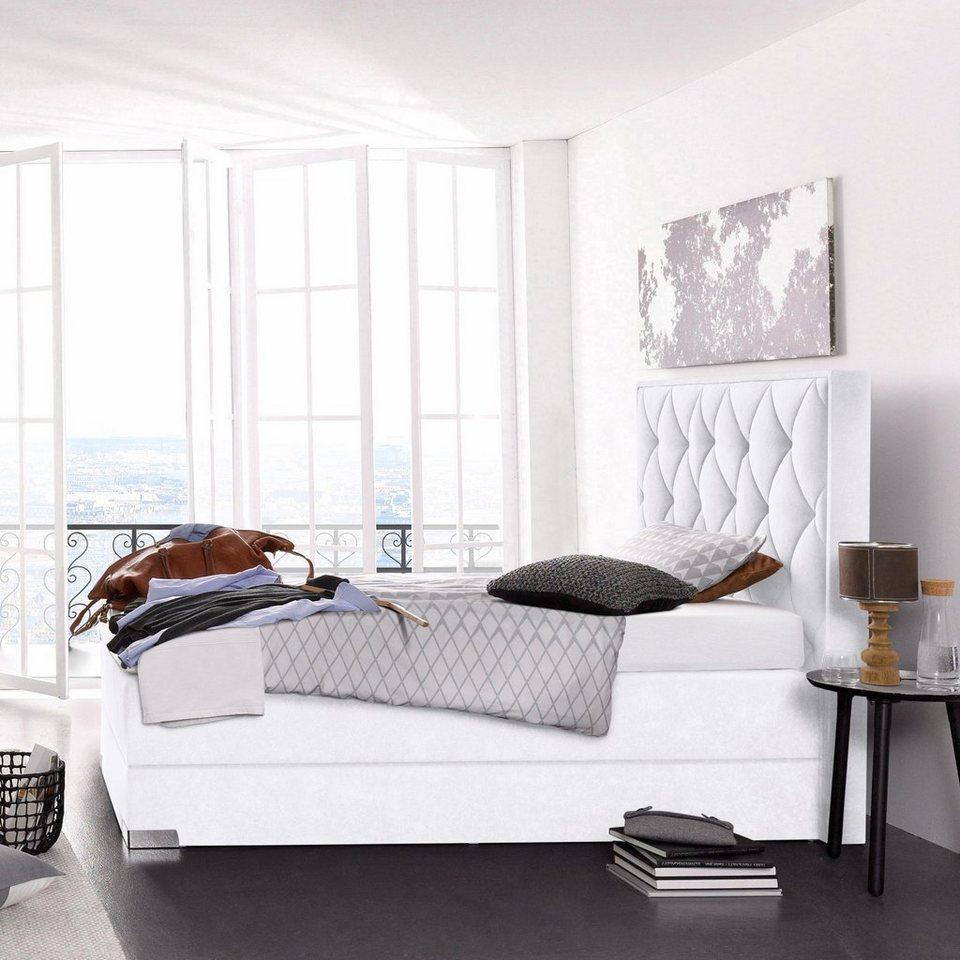 westfalia schlafkomfort boxspringbett edle steppung im polsterkopfteil online kaufen otto. Black Bedroom Furniture Sets. Home Design Ideas