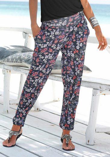 s.Oliver RED LABEL Beachwear Strandhose mit Blumendruck