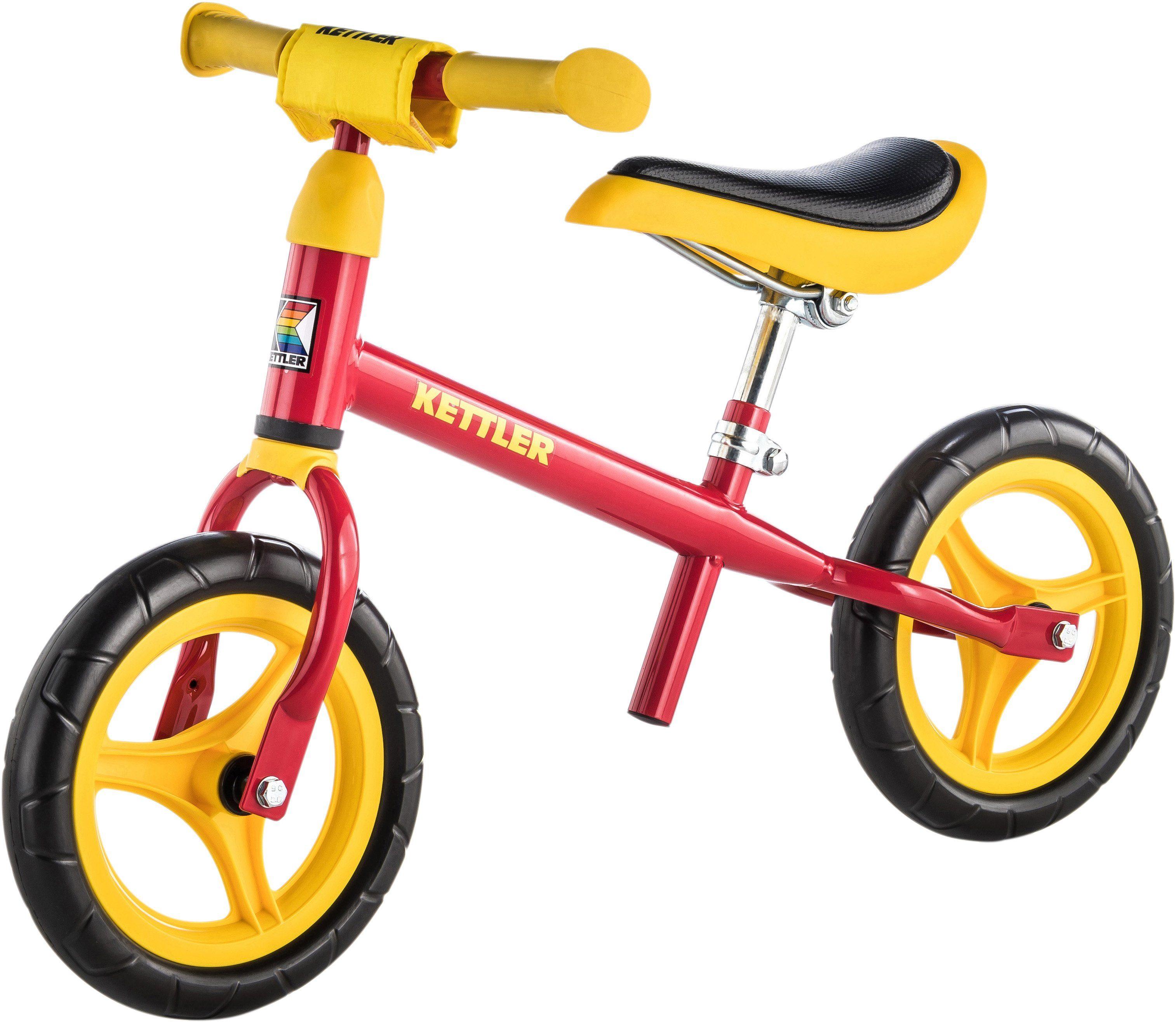 Kettler® Laufrad höhenverstellbar mit gekapselten Kugellagern, »Speedy, rot/gelb, 10-Zoll«