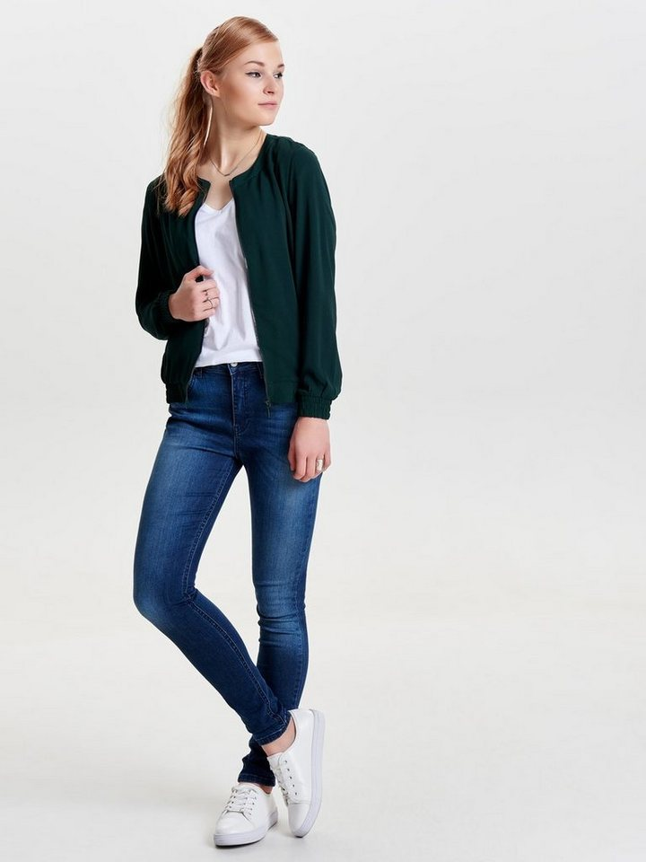 Only Bomber- Jacke in Scarab