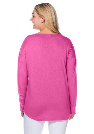 sheego Casual Longshirt, verlängerte Rückenpartie