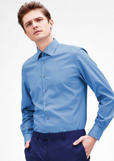 s.Oliver BLACK LABEL Modern Fit: Bügelfreies Baumwollhemd