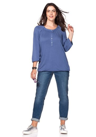 Sheego Casual Langarmshirt With Button Tape