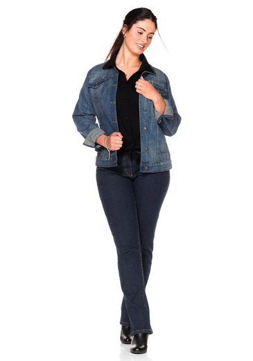 sheego Denim Jeansjacke, ;
