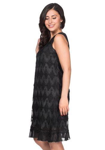Damen sheego Style Spitzenkleid Oil-washed-Look grau | 06956440207186