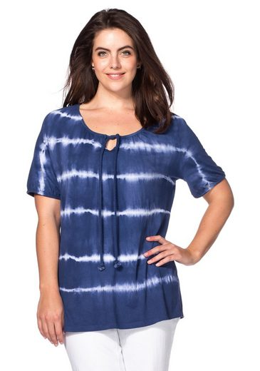 sheego Casual T-Shirt, mit Batik-Effekten