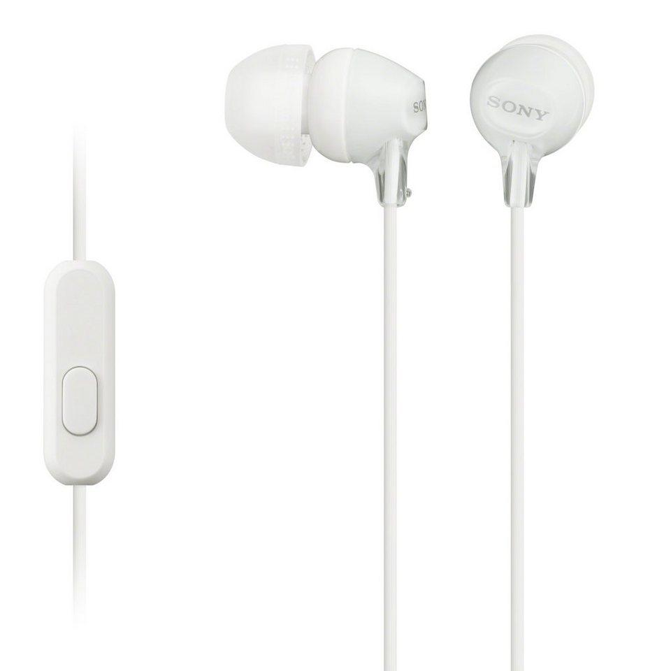 Sony Geschlossener In-Ear-Kopfhörer / Headset »MDR-EX15AP« in weiss