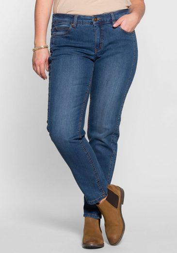 Sheego Stretch-Jeans Mit seitlichen Abnähern