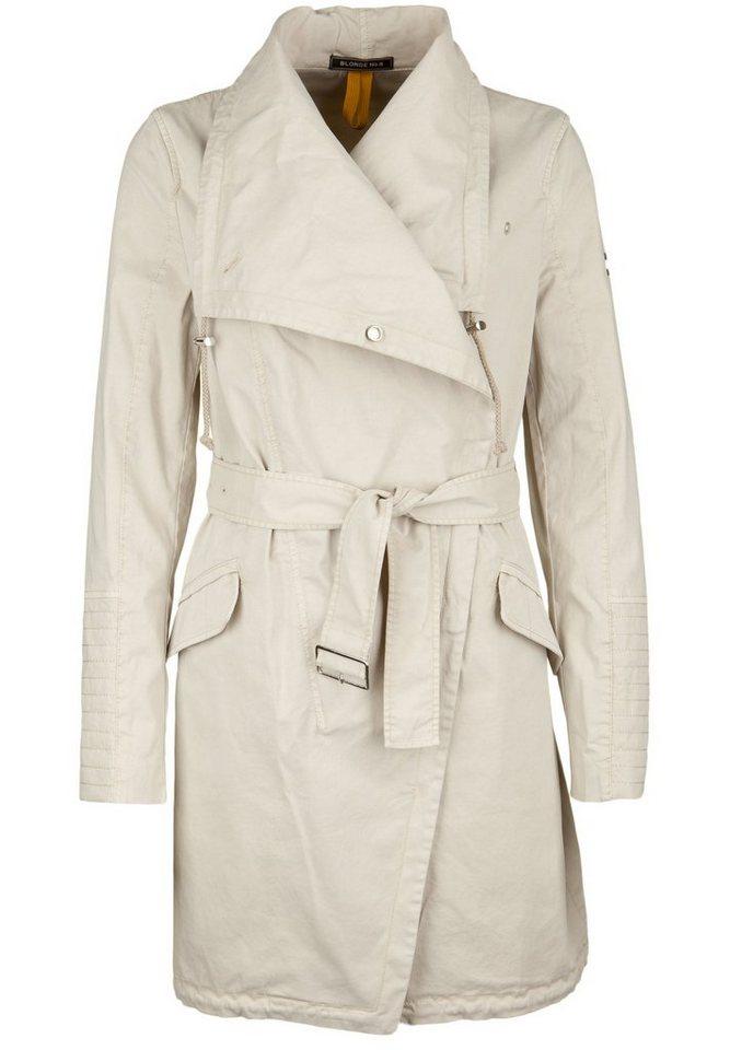 Blonde No.8 Trenchcoat »BIKER« in whisper white