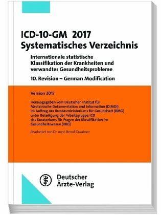 Broschiertes Buch »ICD-10-GM 2017Systematisches Verzeichnis«
