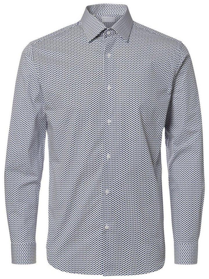 SELECTED Slim-Fit- Langarmhemd in White