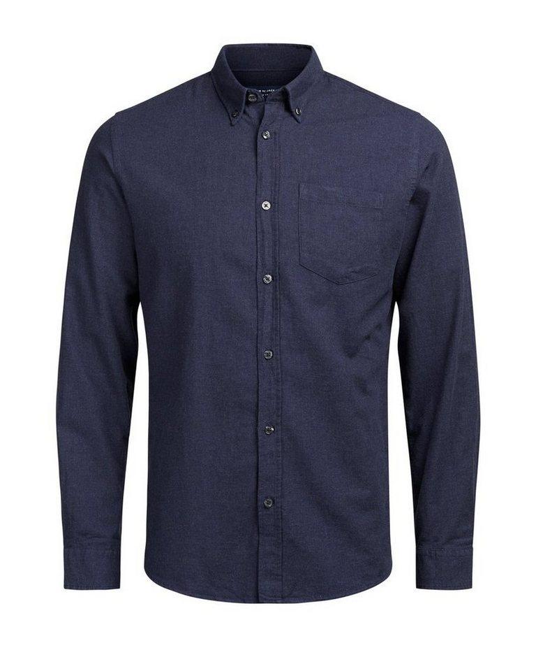 Jack & Jones Button-down- Langarmhemd in Navy Blazer
