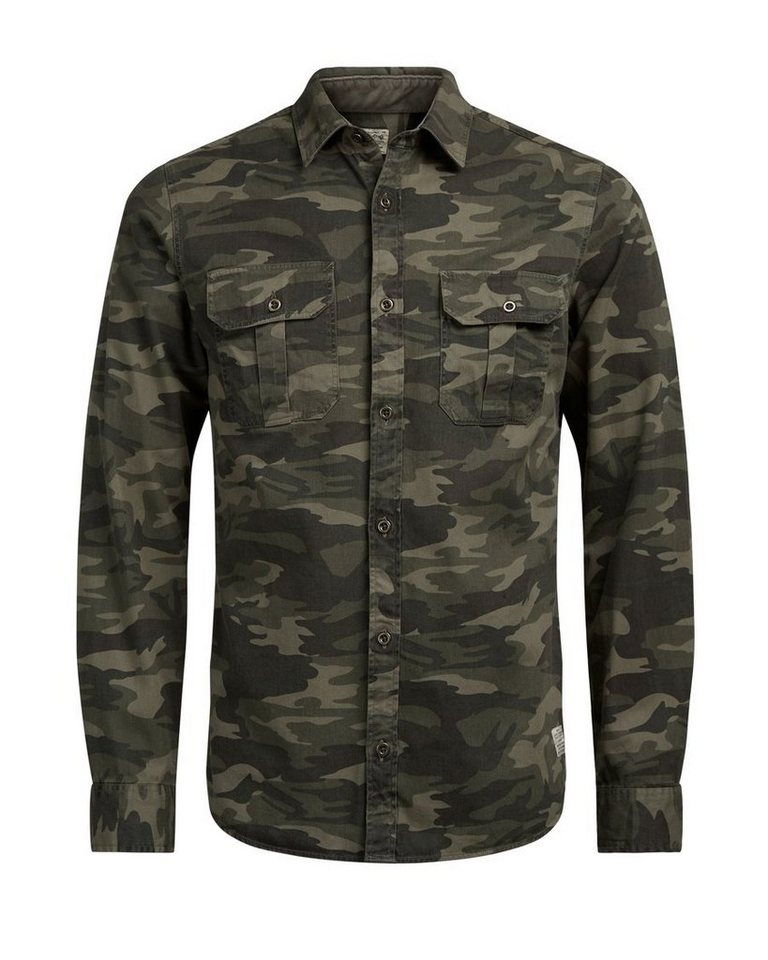Jack & Jones Slim-Fit- Langarmhemd in Rosin