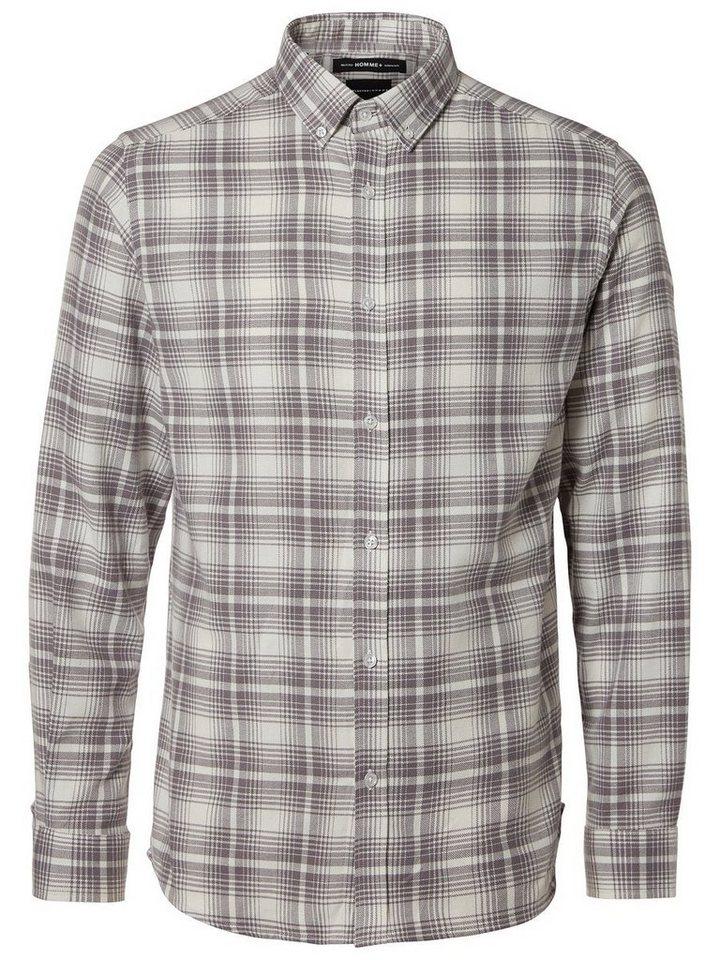 SELECTED Regular-Fit- Langarmhemd in White