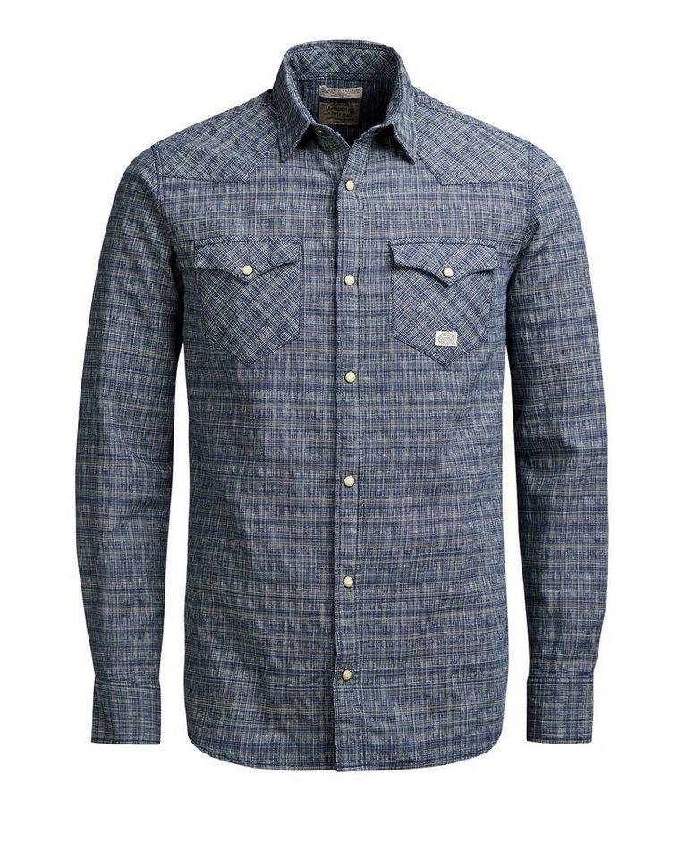 Jack & Jones Western- Langarmhemd in MOOD INDIGO