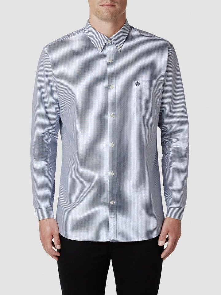 SELECTED Oxford - Langarmhemd in NAVY BLUE