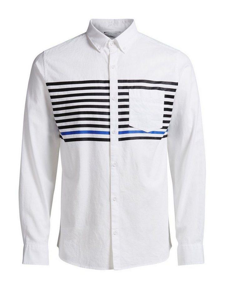 Jack & Jones Gestreiftes Langarmhemd in White