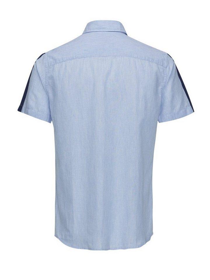 Jack & Jones Jeans- Kurzarmhemd in Light Blue Denim
