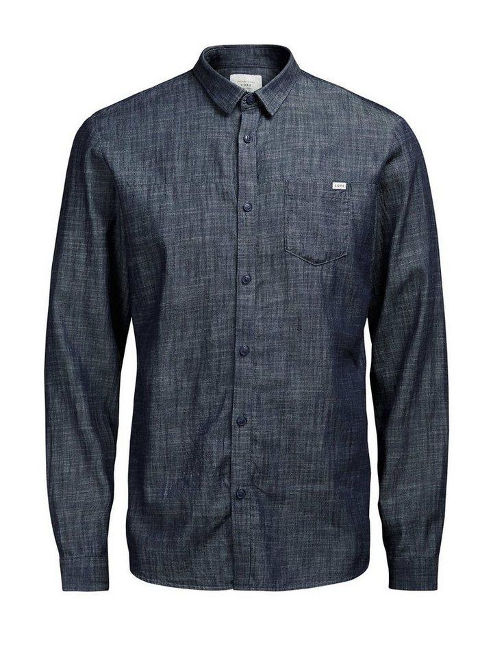 Jack & Jones Klassisches Freizeithemd in Light Blue Denim