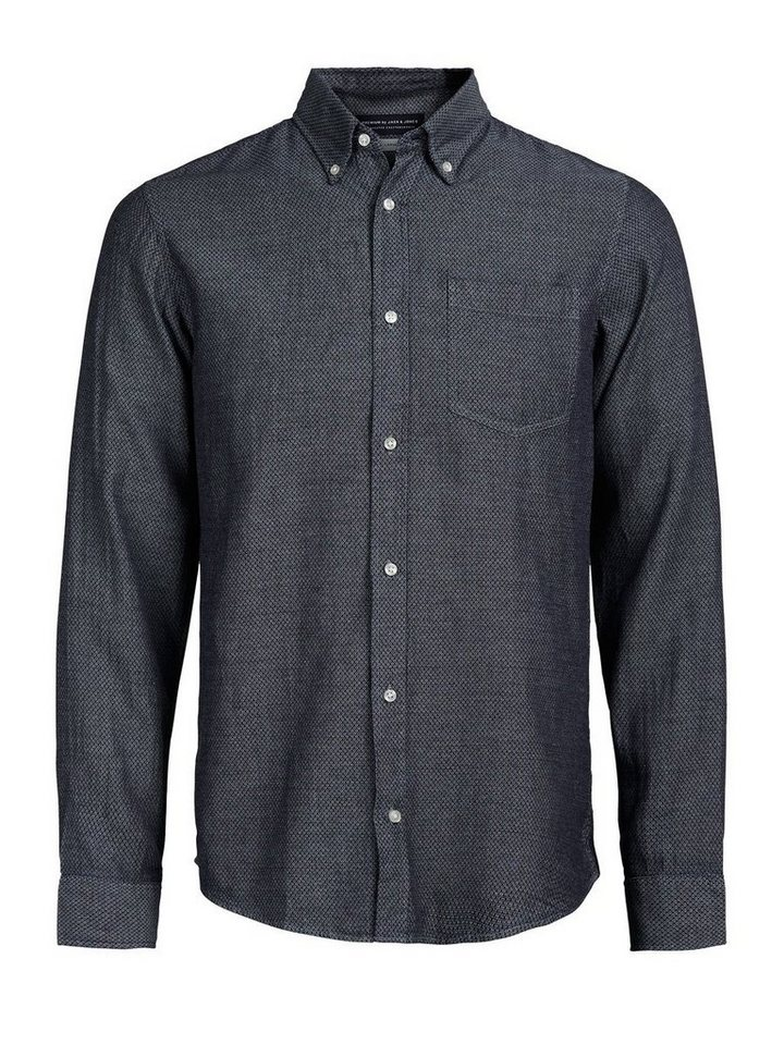 Jack & Jones Button-Down- Langarmhemd in CHAMBRAY BLUE