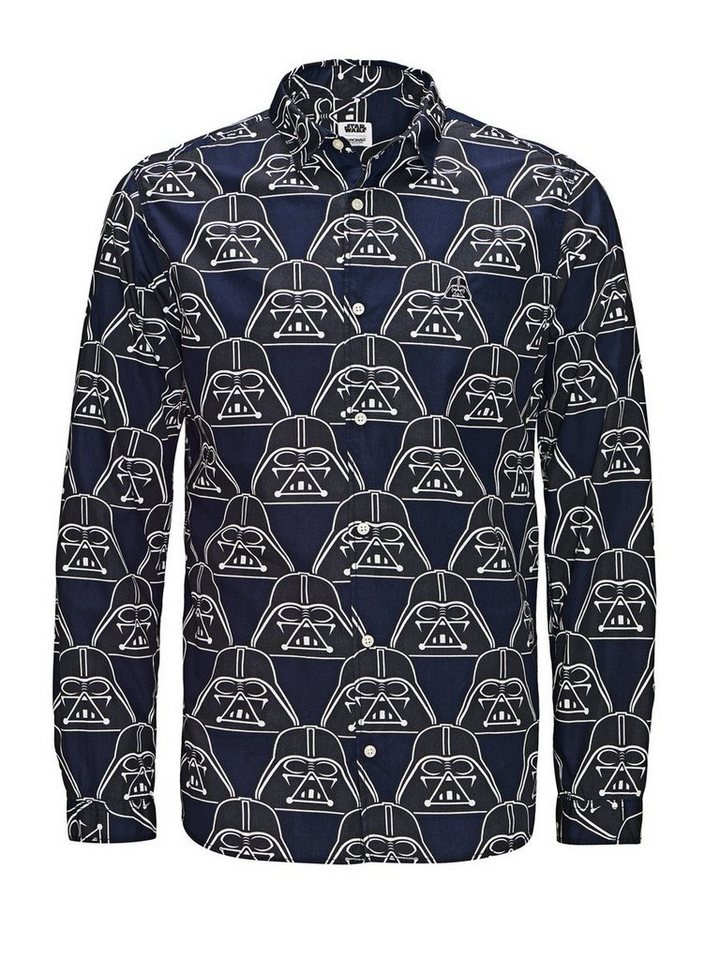 Jack & Jones Langarmhemd in Navy Blazer