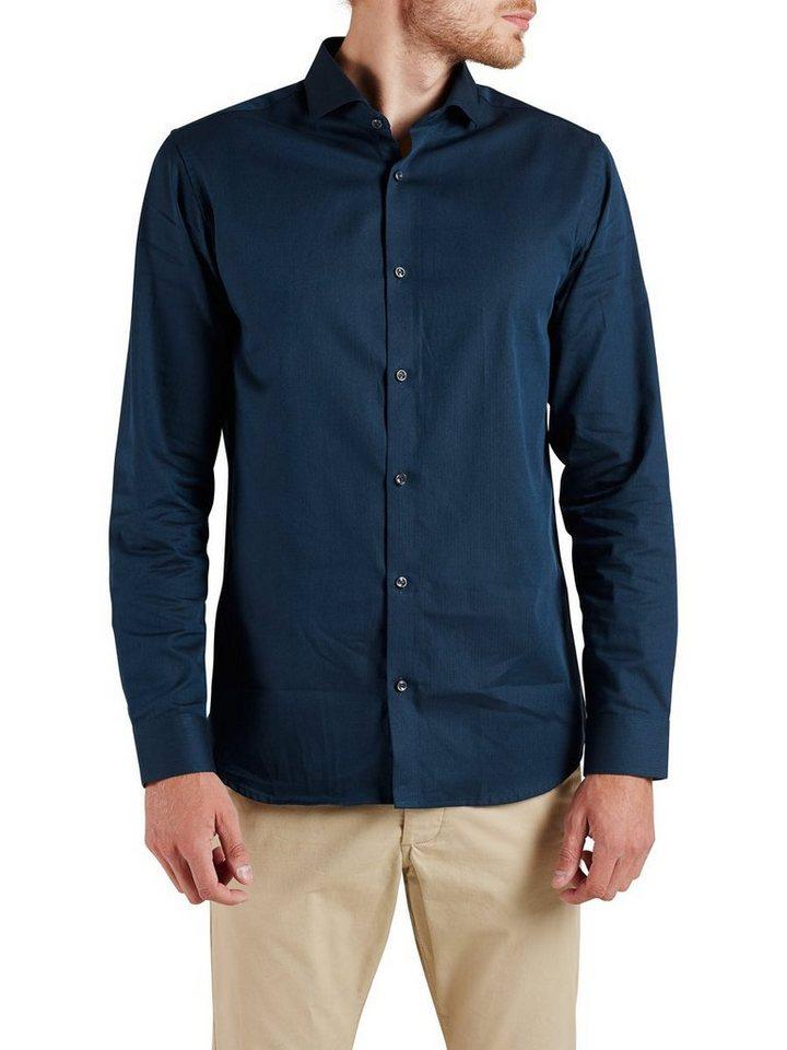 Jack & Jones Kentkragen- Langarmhemd in Navy Blazer
