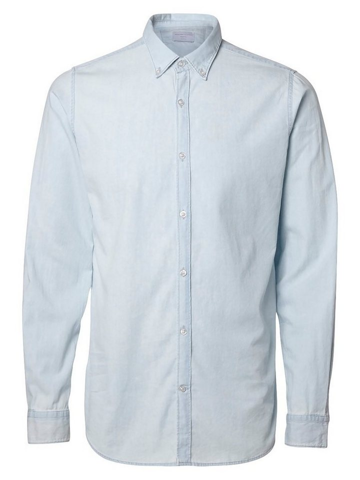 SELECTED Slim-Fit- Jeanshemd in Light Blue Denim