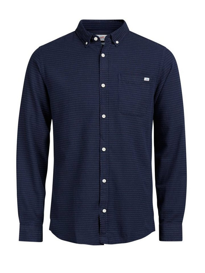 Jack & Jones Detailliertes Langarmhemd in Navy Blazer