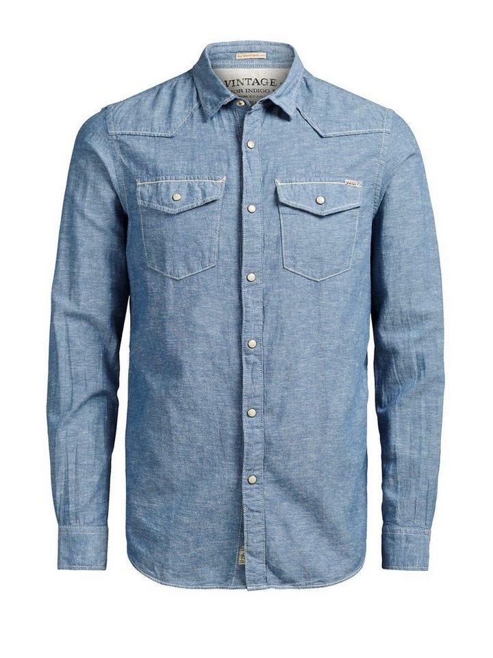 Jack & Jones Western- Langarmhemd in PROVINCIAL BLUE