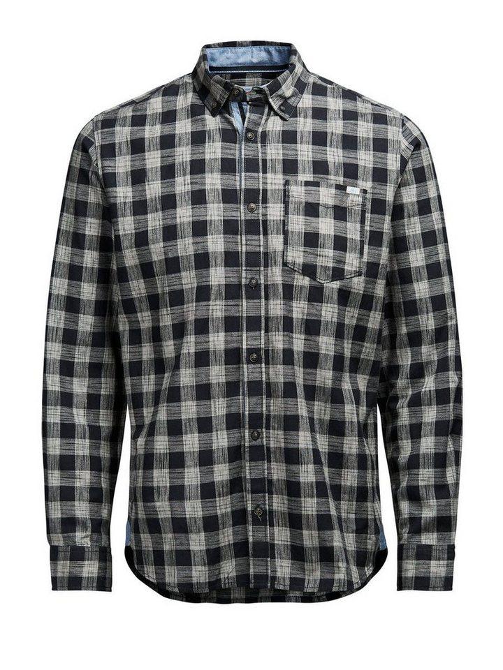 Jack & Jones Karierter Langarmhemd in Black