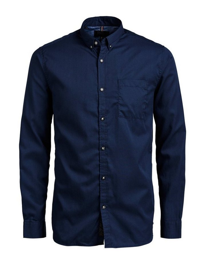 PRODUKT Jeans- Hemd in Navy Blazer