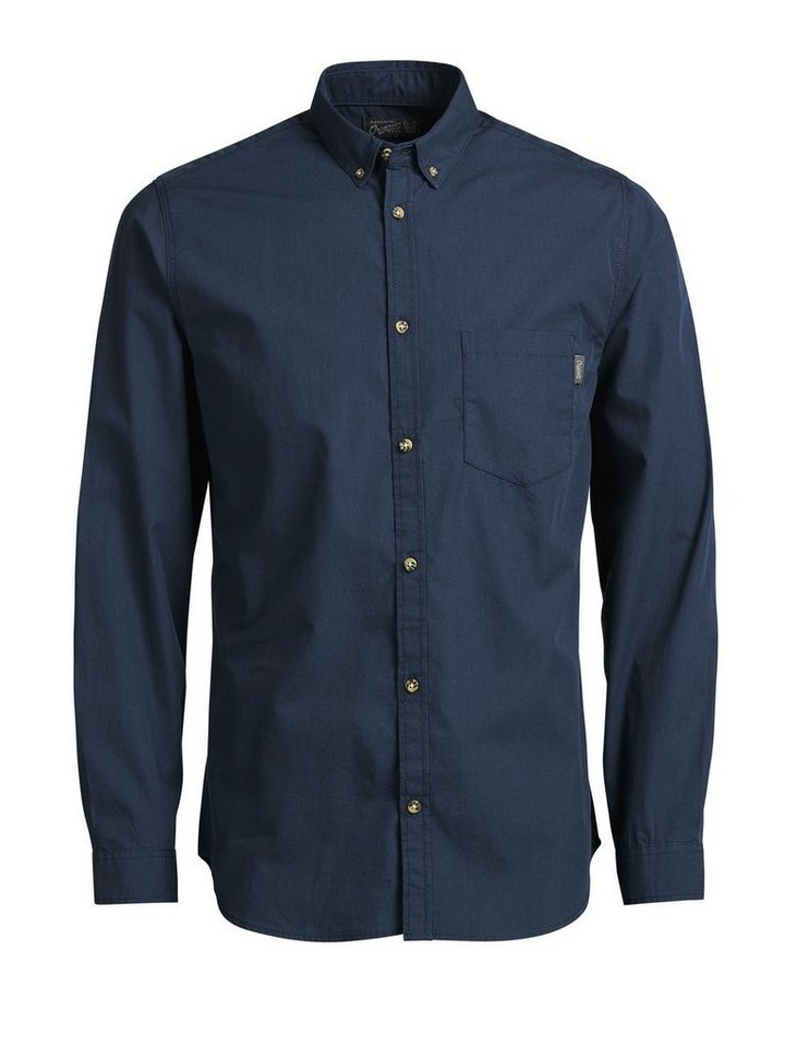 Jack & Jones Klassisches Langarmhemd in Navy Blazer