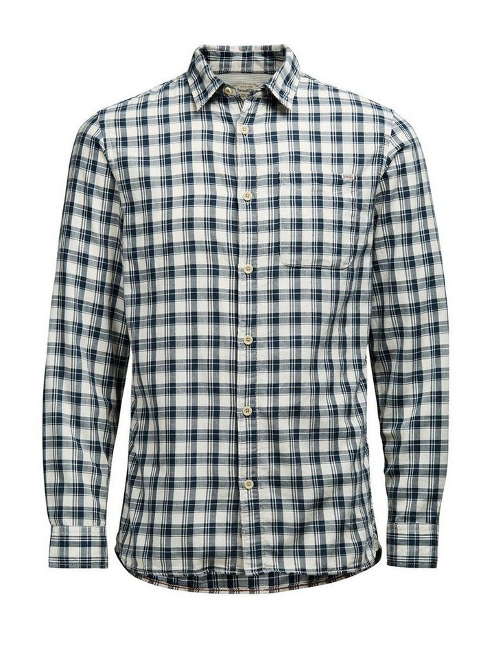 Jack & Jones Kariertes Langarmhemd in CLOUD DANCER