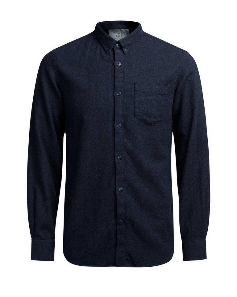 Jack & Jones Button-Down- Freizeithemd in Navy Blazer