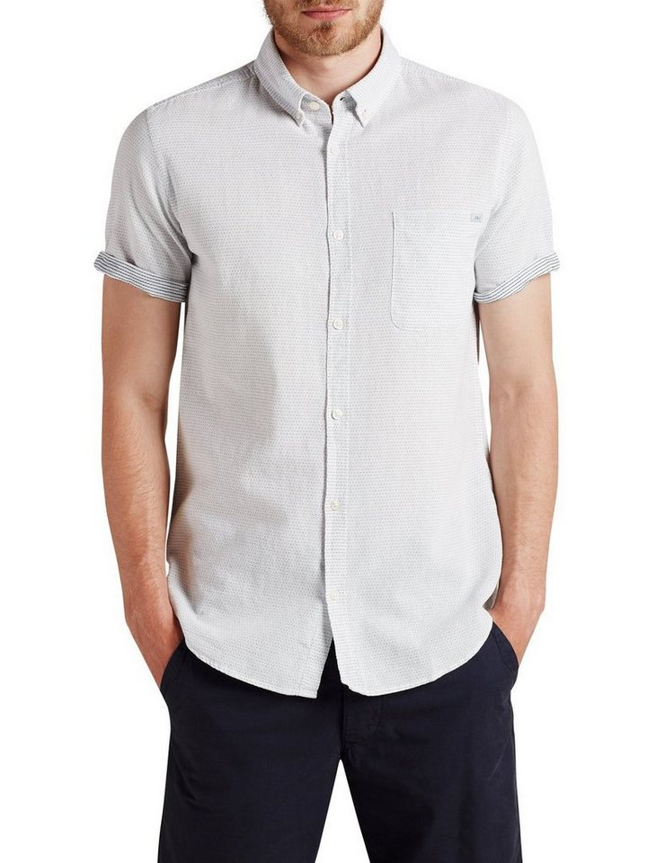 Jack & Jones Texturiertes kurzärmeliges Kurzarmhemd in CLOUD DANCER
