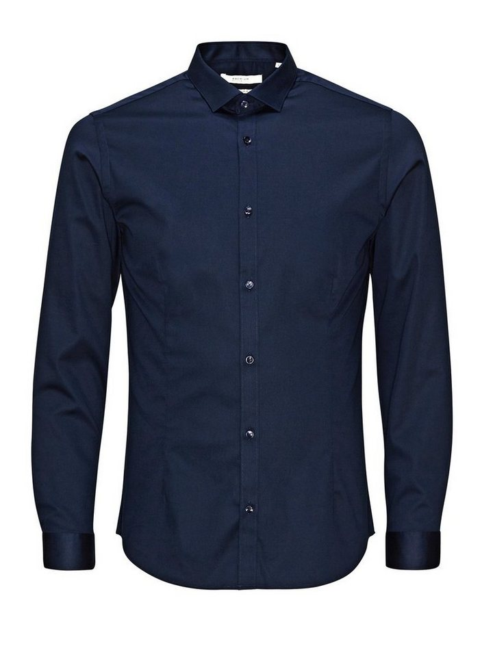 Jack & Jones Super schlank Businesshemd in Navy Blazer