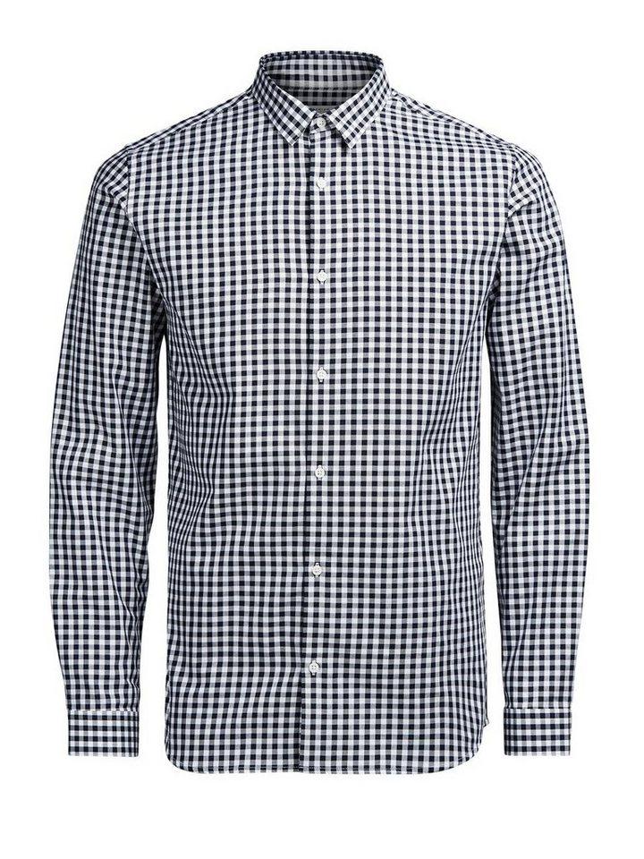 Jack & Jones Vichy-Karo- Langarmhemd in White