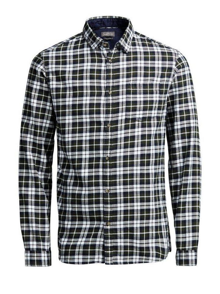 Jack & Jones Weiches Baumwoll- Langarmhemd in Rosin