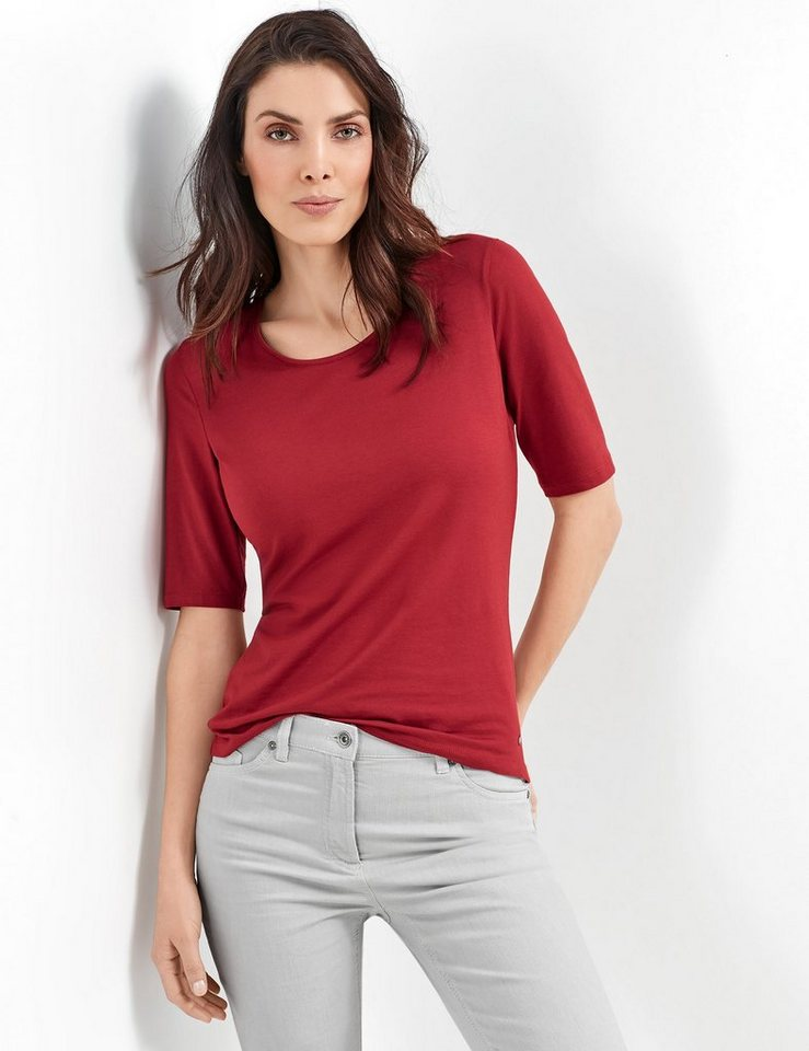 Gerry Weber T-Shirt 3/4 Arm »1/2 Arm Shirt« in French Red