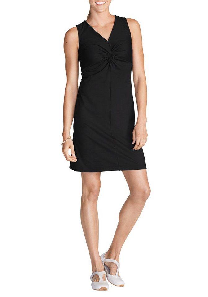 Eddie Bauer Travex® Kleid mit gedrehter Front in Schwarz