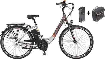 Prophete E-Bike City inkl. 2. Akku u. Packtasche, 28 Zoll, 7 Gang Shimano Nexus, »Navigator Pro«