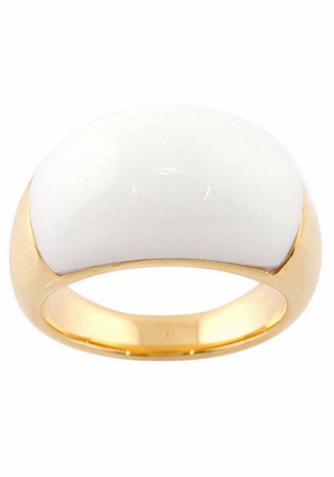Merii Fingerring »M0865R/90/83/50« mit Achat in Silber 925-goldfarben-weiß