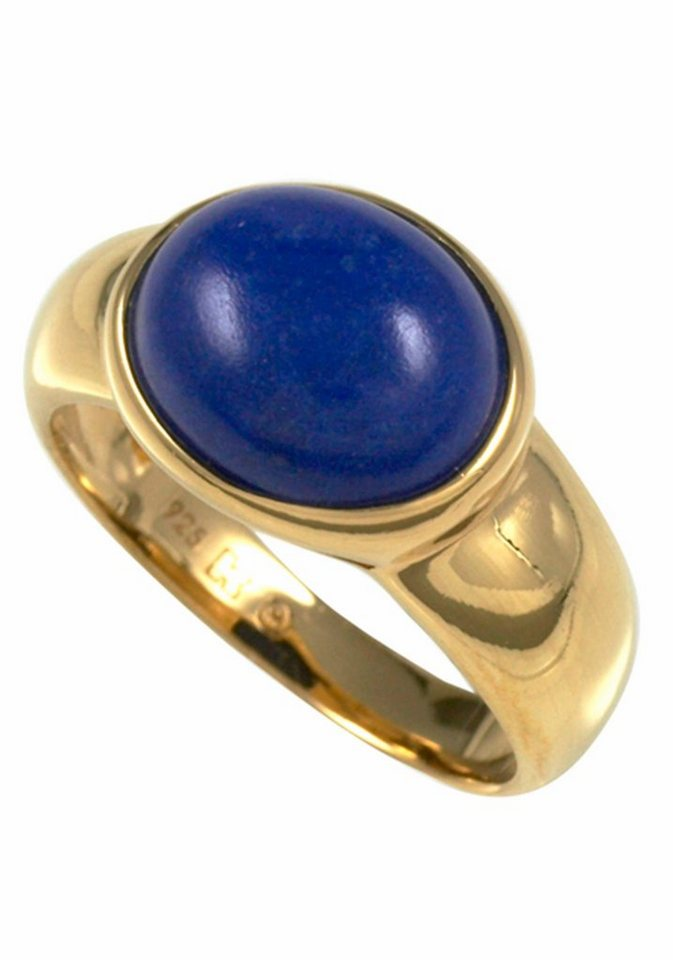 Merii Fingerring »M0867R/90/E4/50« mit Lapislazuli in Silber 925-goldfarben-blau